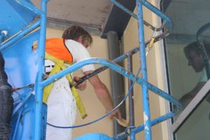 commercial painter repainting warehouse West Sydney
