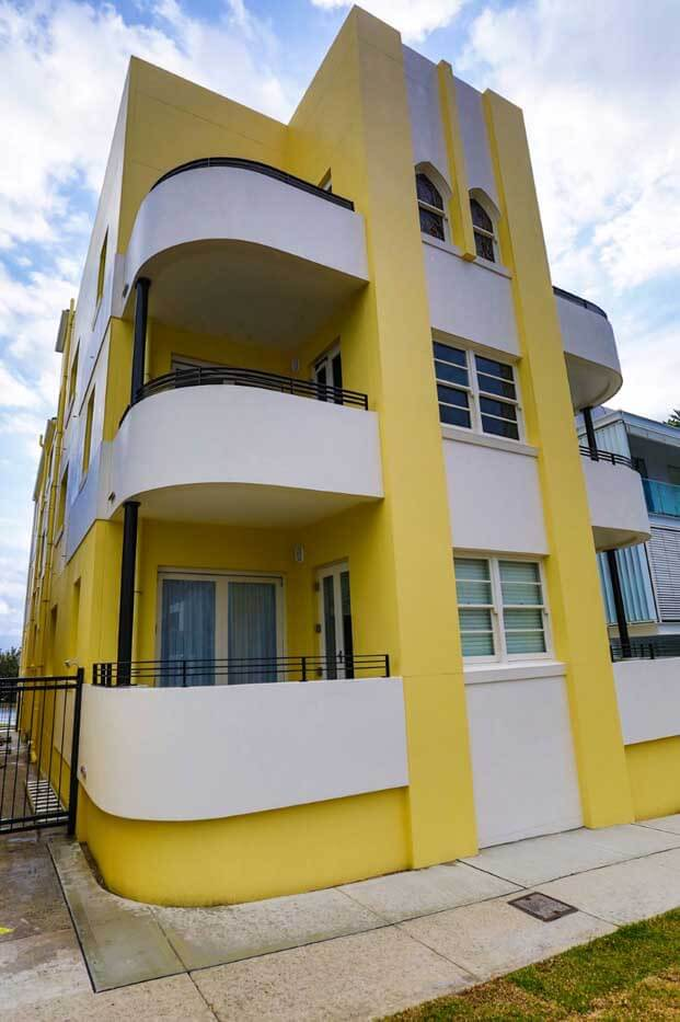 Repainting Art Deco Building in Bondi