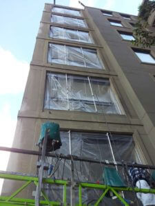Remedial work on a high rise apartment building