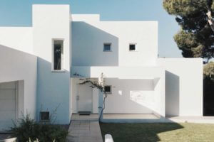 residential house exterior painting white