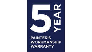 5 Year Painter's Workmanship Warranty
