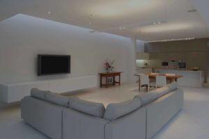 Interior lounge room freshly painted
