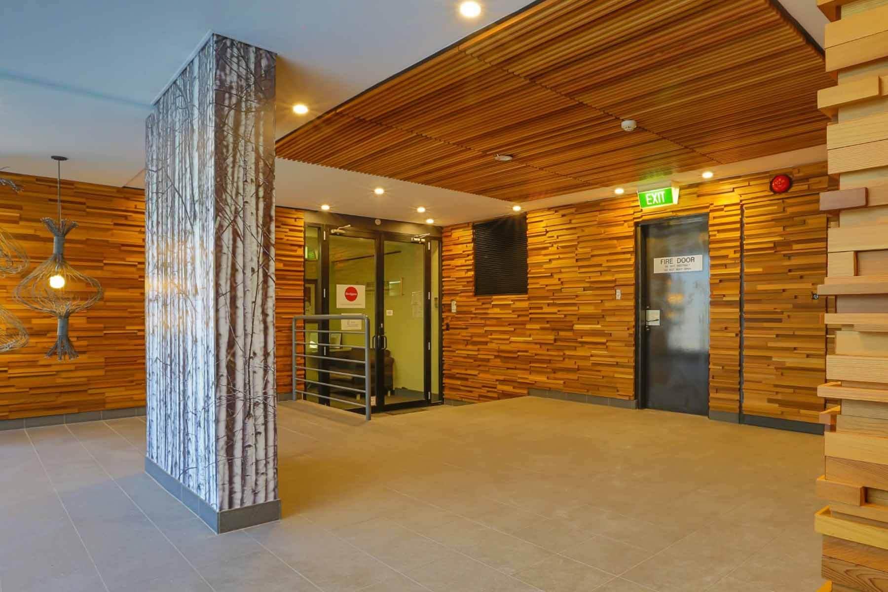 office-lobby-interior-timber finish