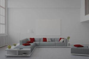 Painted Interior Lounge White Colour Scheme