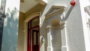 Repainted Entrance Apartment Building