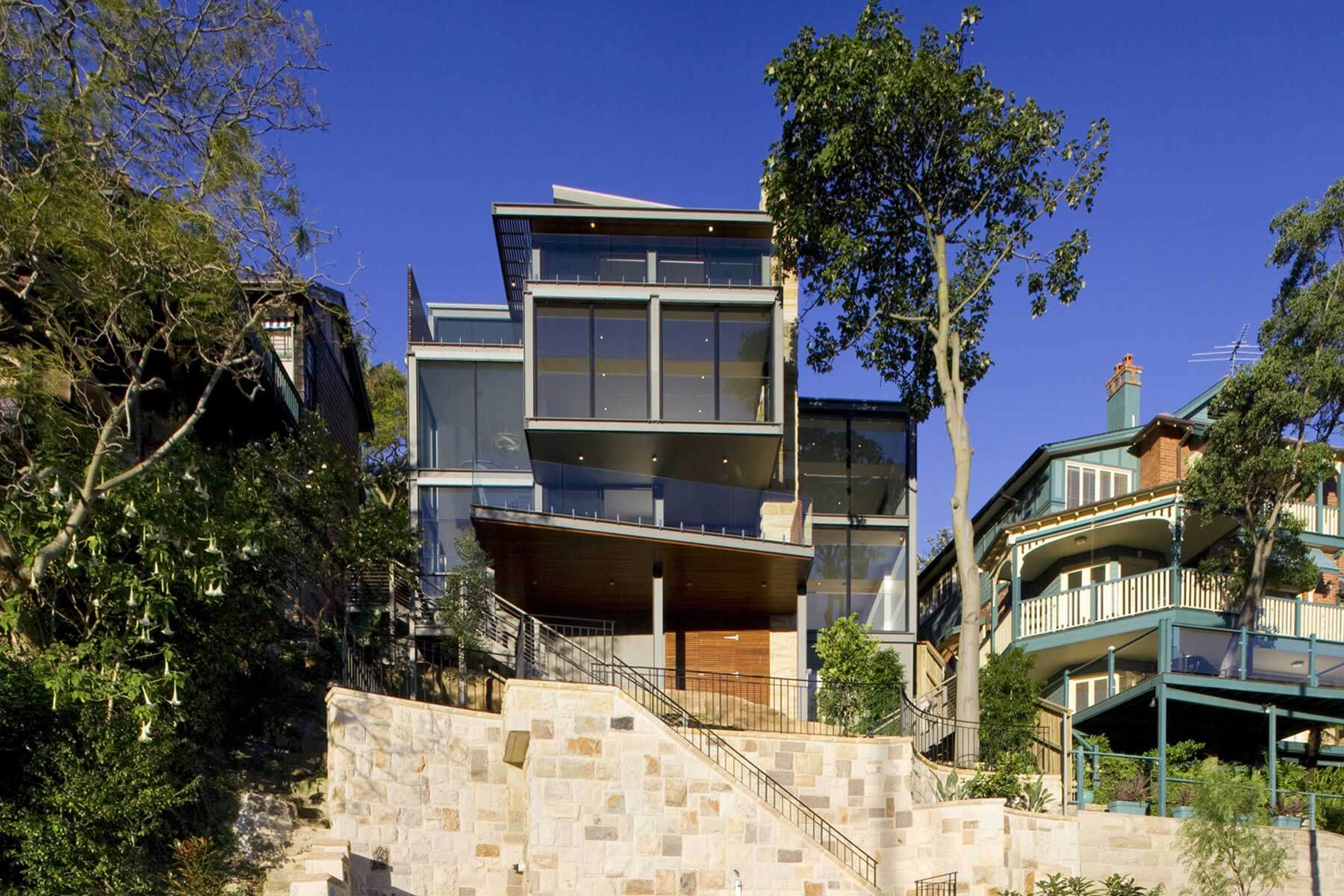 mosman house exterior waterview