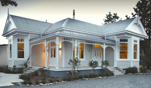 white exterior house paint