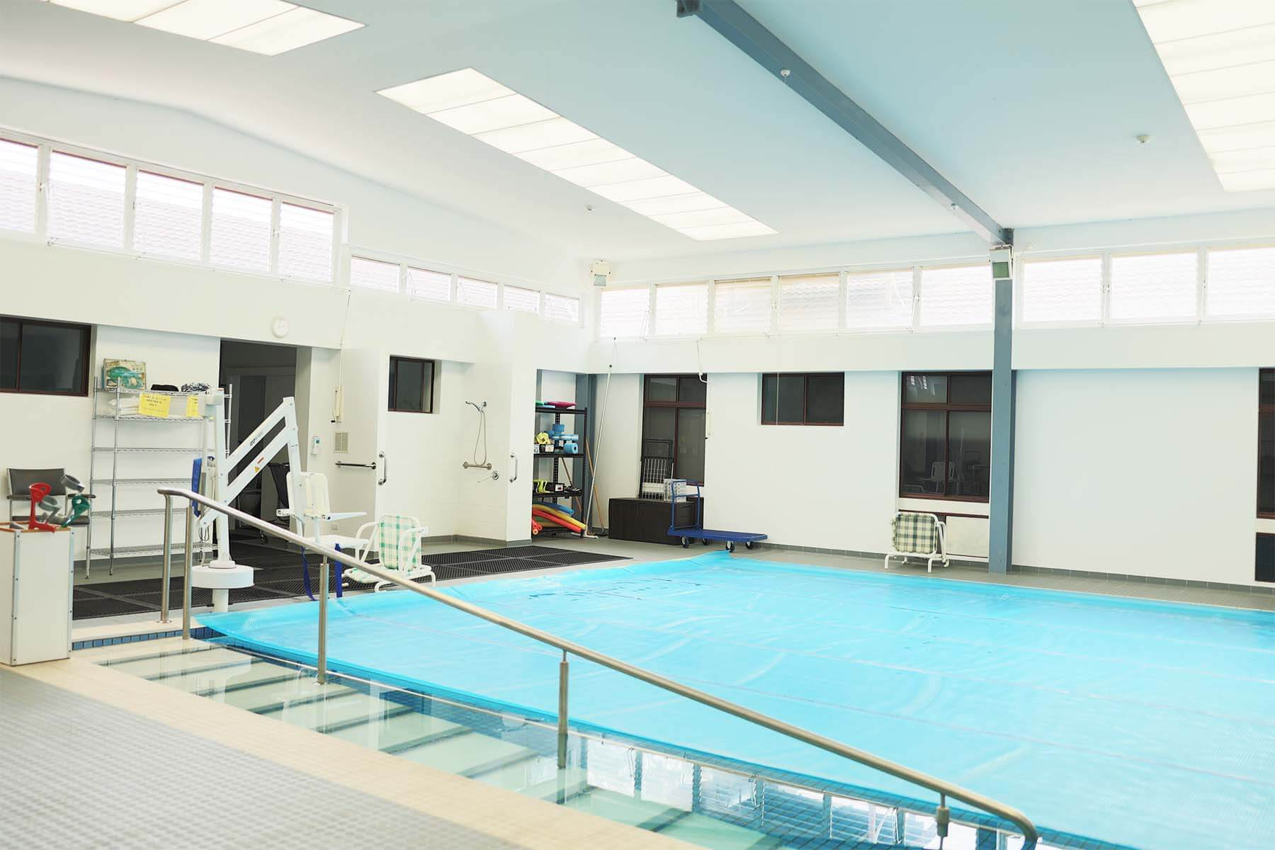 medical-centre-pool-facility-painting